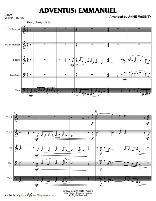 All Music Chords brass choir sheet music : Brass | Product categories | McGinty Music, LLC.