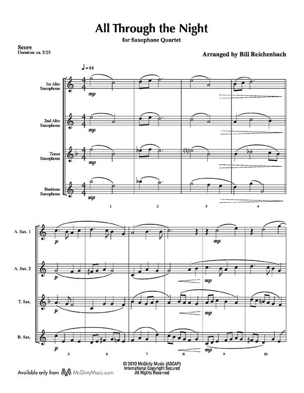 Saxophone quartet in Christmas music (AATB) | Product categories ...