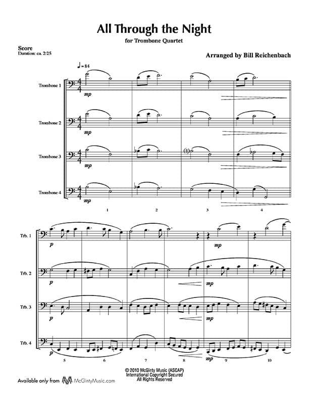 All Music Chords brass choir sheet music : Trombone quartet in Christmas music | Product categories | McGinty ...