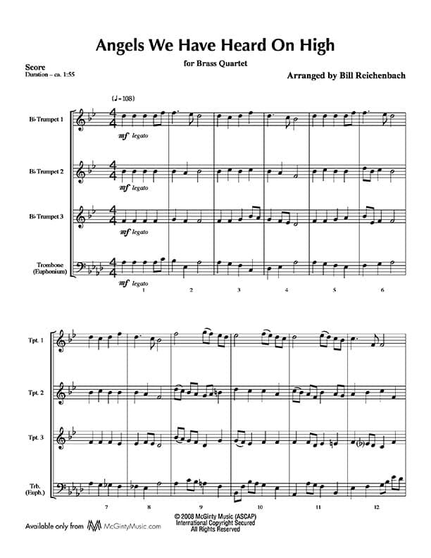 All Music Chords free french horn sheet music : 3 Trumpets in Christmas music | Product categories | McGinty Music ...