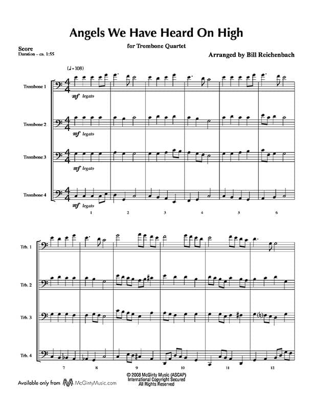 Trombone quartet in Christmas music | Product categories | McGinty ...