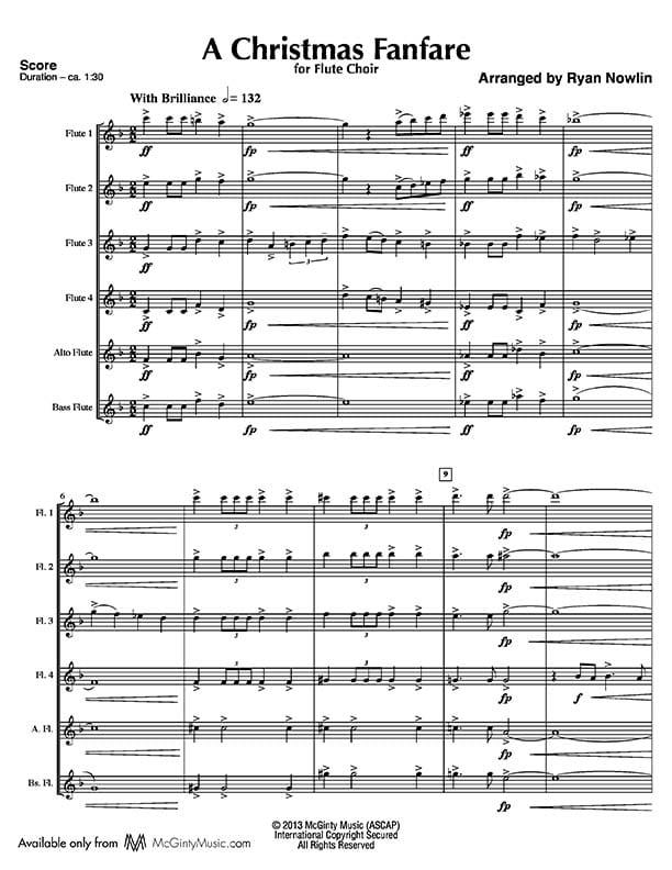 Christmas Fanfare, A – Flute Choir | McGinty Music, LLC.
